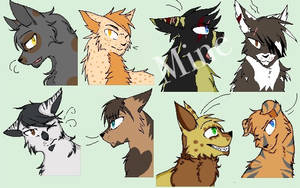 Free Warrior cats adoptables (closed )