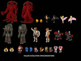 Fallen Evolution Monsters by Fallen-Evolution