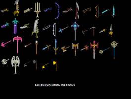 Fallen Evolution Weapons by Fallen-Evolution