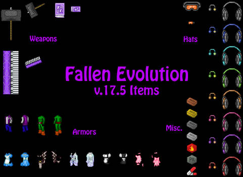 Fallen Evolution v.17.5 Items