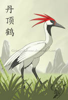 Red-crowned Crane by GetsugaKitsune