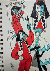 Dilly Dally and Oceaga by stitchesnumberedby17