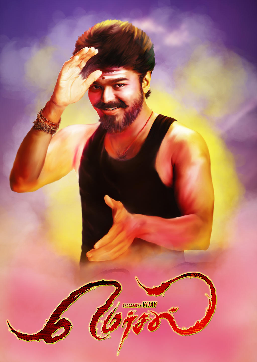 Mersal Movie Painting UHD by VigneshTDesign on DeviantArt