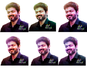 Thalapathy vijay Arts 6Types ofColor FlexBanner HD