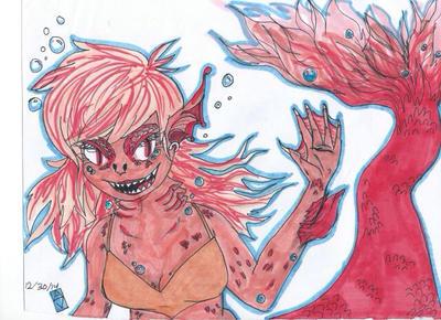 Coral mermaid  by linklunatic13