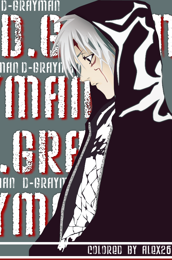 D gray man coloring by alex26gfx on deviantart for Alex grey coloring pages