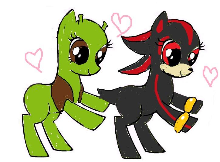 shrek and shadow ponies by kawaiidolphinchan