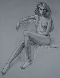 Charcole Drawing of Asha by studiovice