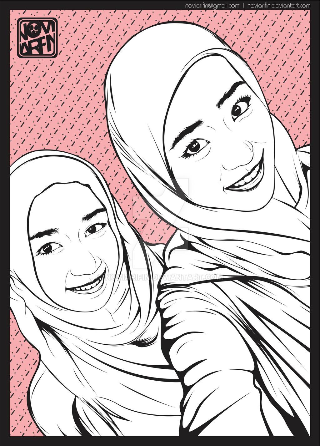 Haruka dan Achan pake Jilbab by noviarifin
