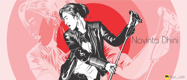 Novinta Dhini Lineart by noviarifin