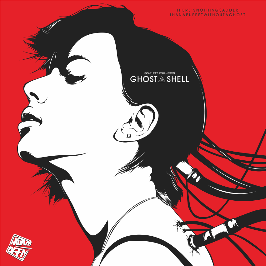 ghost in the shell ( scarlette johanson ) by noviarifin