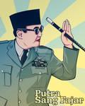 Presiden Sukarno vector ilustration