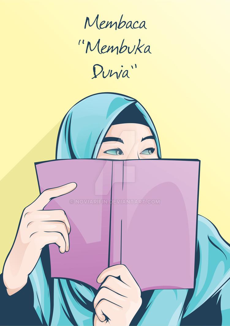 Vector Kartun Baca Buku By Noviarifin On Deviantart