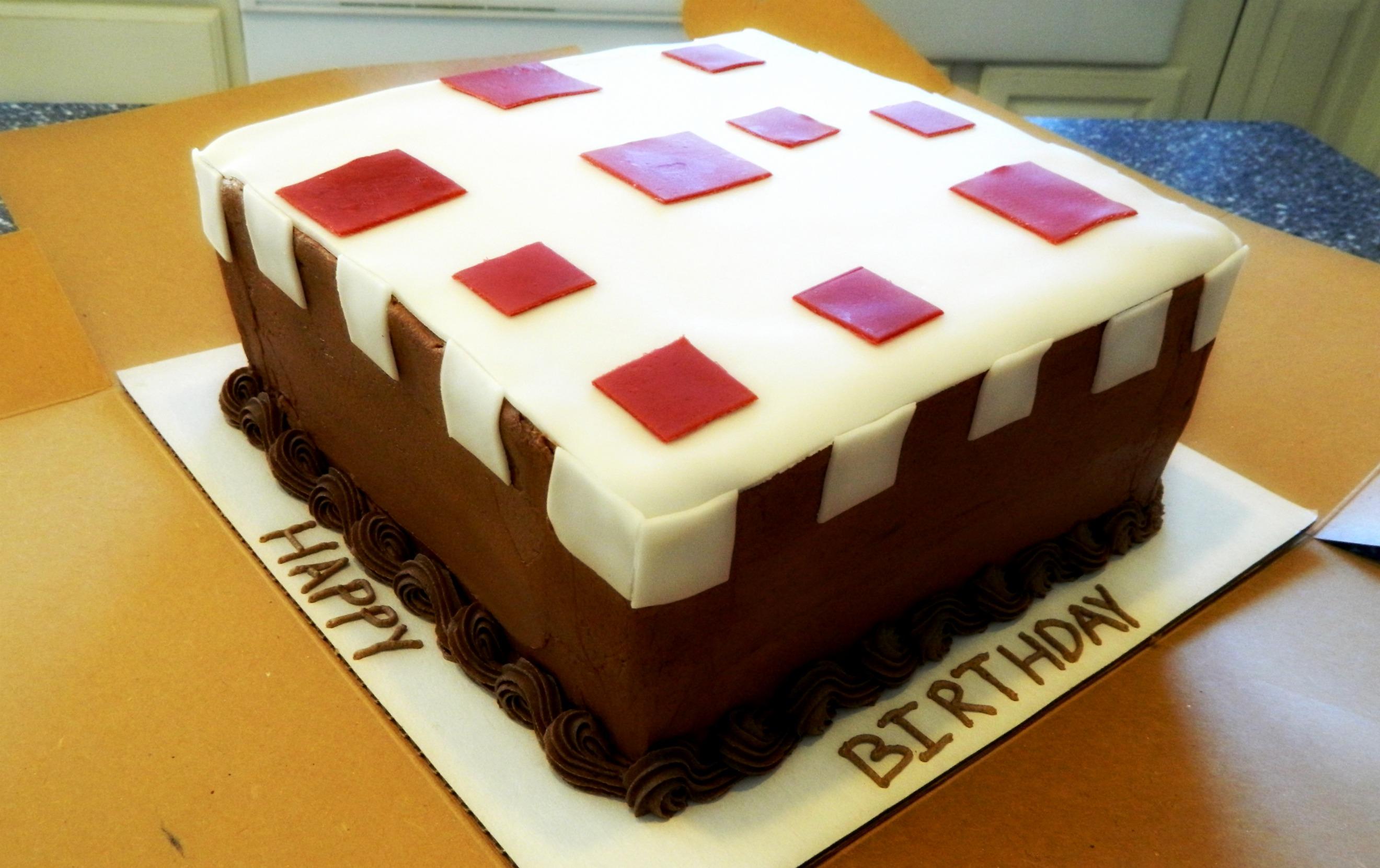 Real Minecraft Cake Recipe