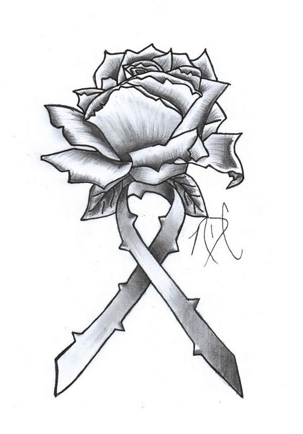 cancer ribbon rose design by ndc13 on deviantart. Black Bedroom Furniture Sets. Home Design Ideas