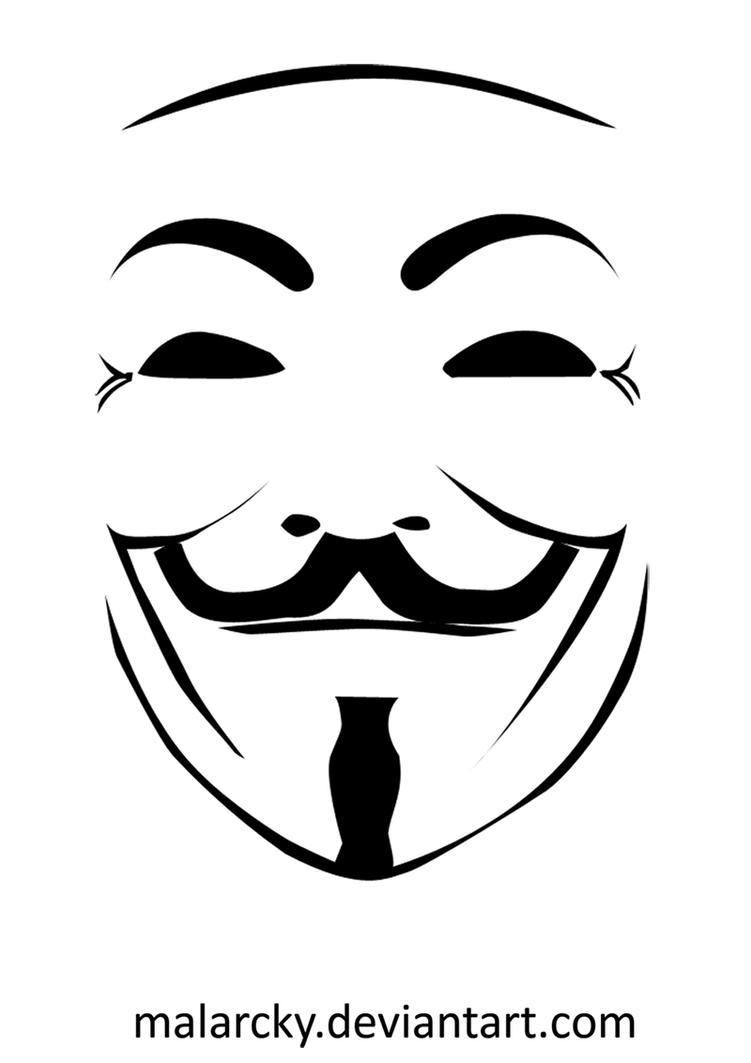 V For Vendetta Mask Stencil V for Vendetta by mala...