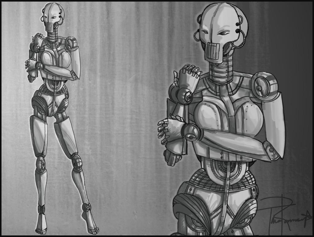 Platinum Humanoid by PeacefulSeraph