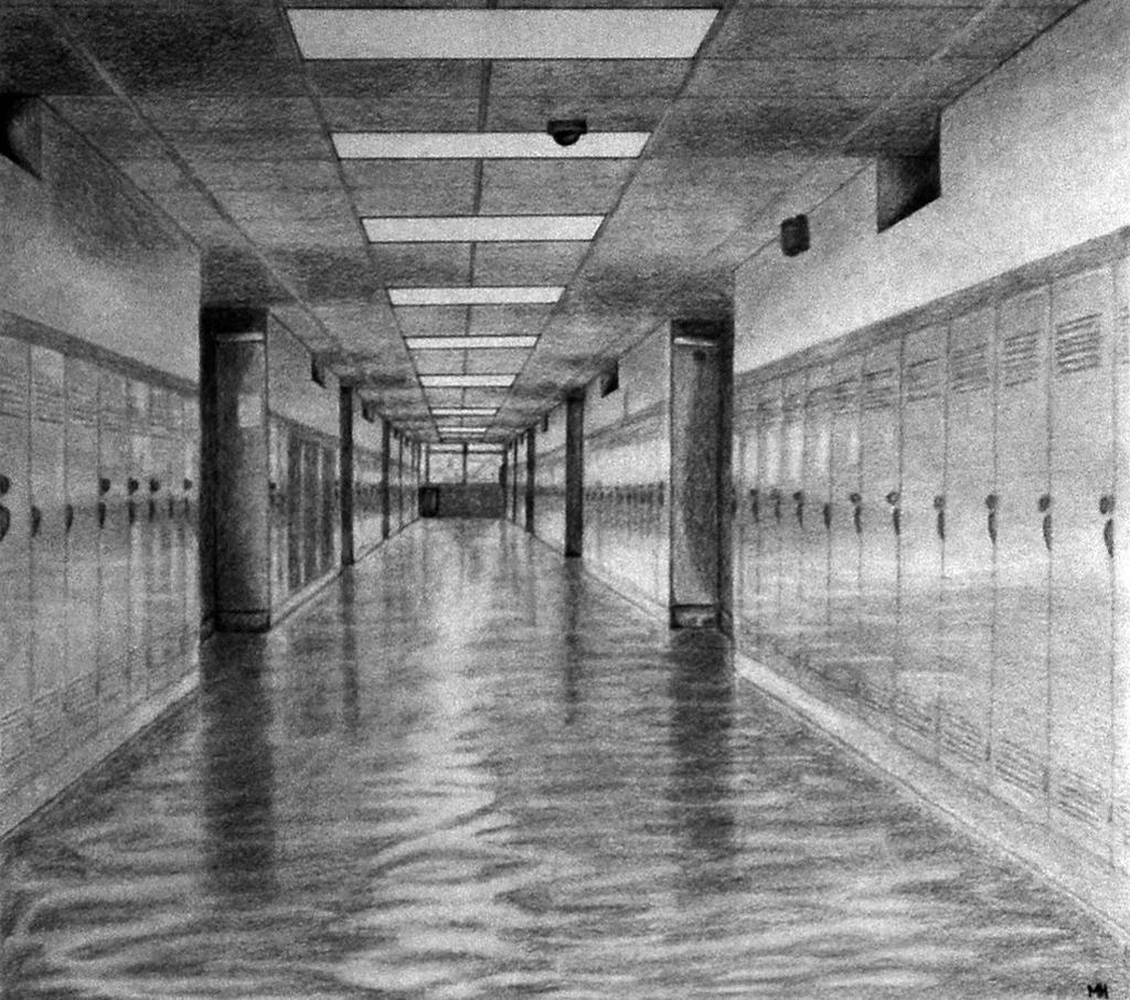Linear Art Definition : Hallway linear perspective by monicaholsinger on deviantart
