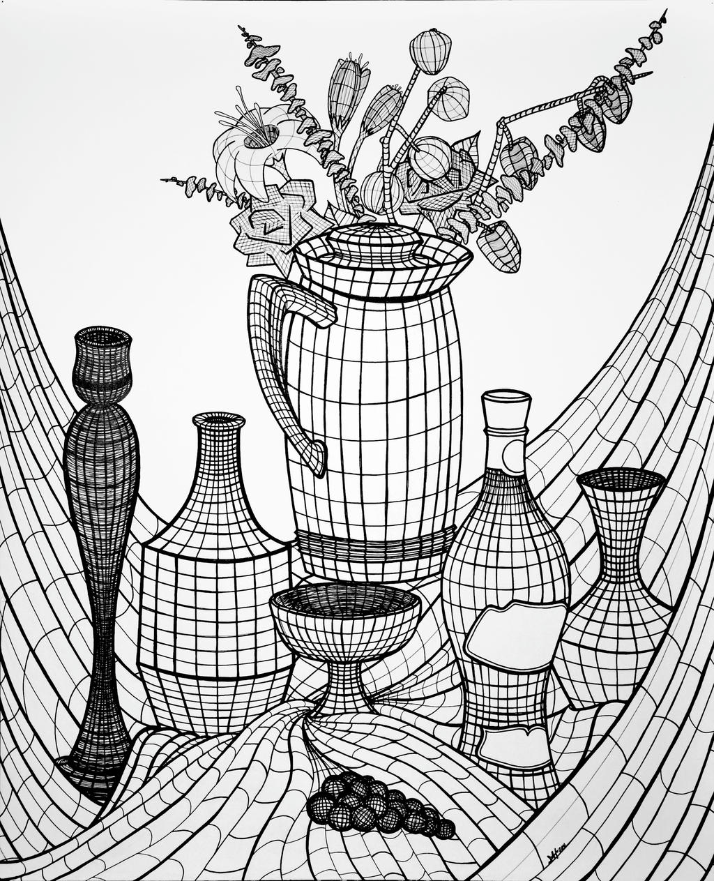 Line Art Using Photo : Still life topographic composition by monicaholsinger on