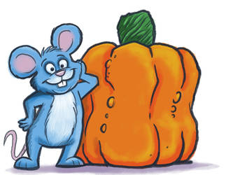mouse and pumpkin by sharpie99