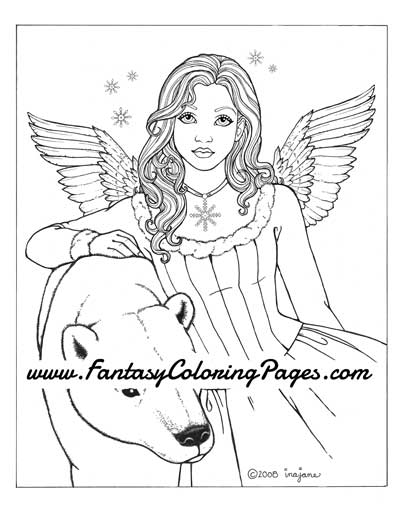 angel bear coloring pages - photo#30