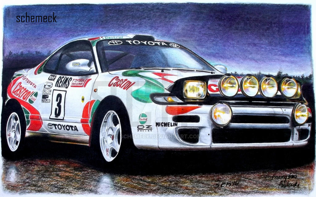 Toyota Celica WRC Carlos Sainz by schemeck on DeviantArt