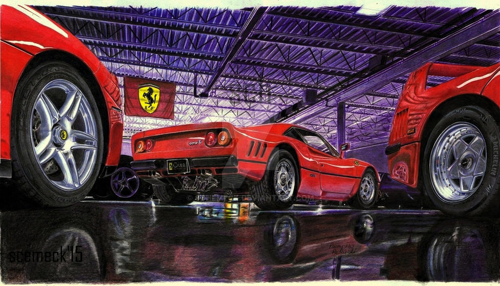 Ferrari garage by schemeck on deviantart for Garage ferrari charnecles