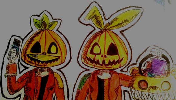 Pumpkin heads by Scintillor-Destron