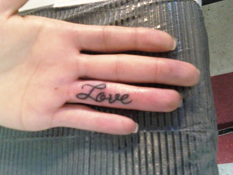 Inside Finger Tattoo By Chopperkid13 On DeviantArt