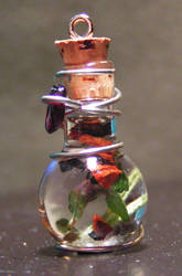 Magic Vial Charm - Deep Forest by Izile
