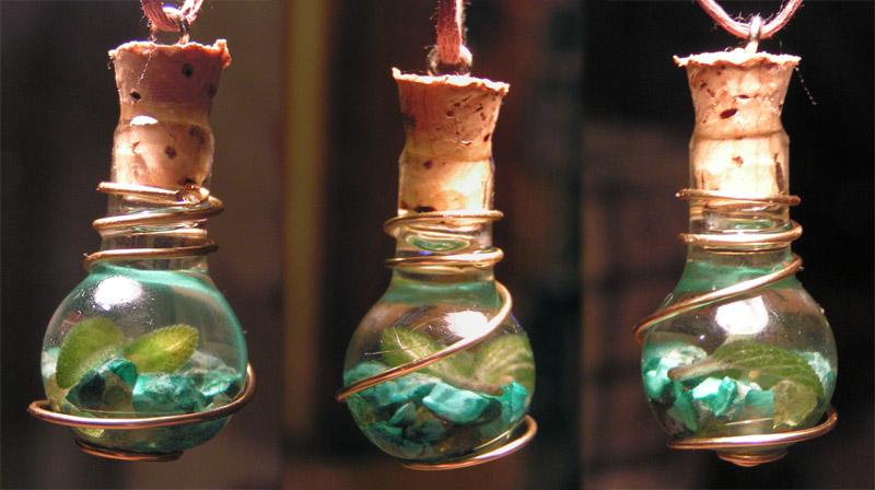 Magic Vial - Elemental Earth Pendant by Izile