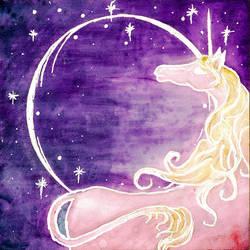 Ghostly Unicorn by Izile