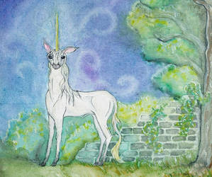 Lost Garden Unicorn by Izile