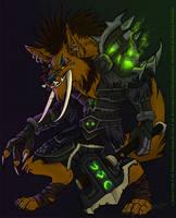 Commission: Wolf-Troll Hybrid by KazeraVX
