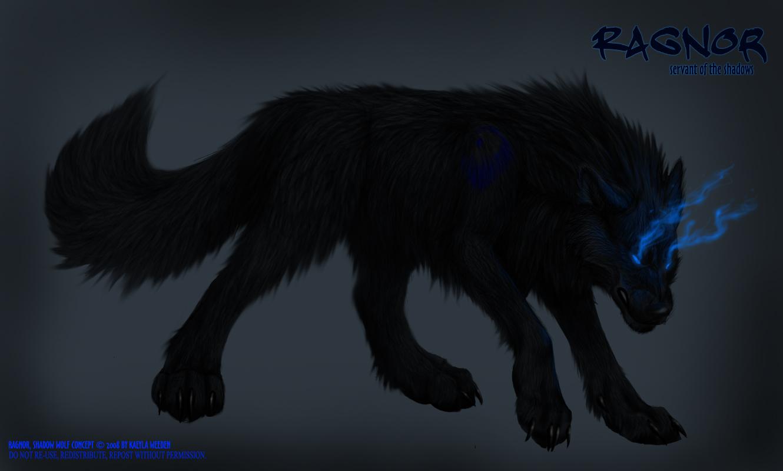 Shadow Wolf Ragnor By KazeraVX