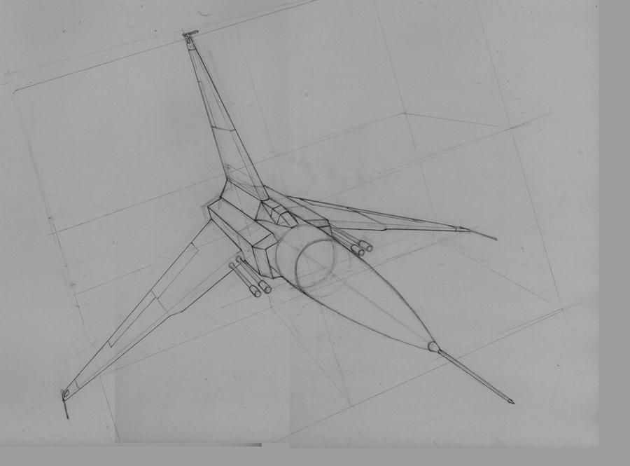 Starfighter Space Ship Outline By Jdp89 On DeviantArt