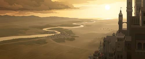 Fantasy Landscape (Adobe Illustrator Vector) by jdp89