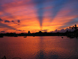 EPCOT Sunset by TrptCarlSE