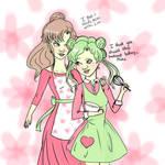 Makoto and Tellu by raine-diamond
