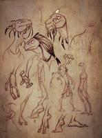 Desert folk concept art