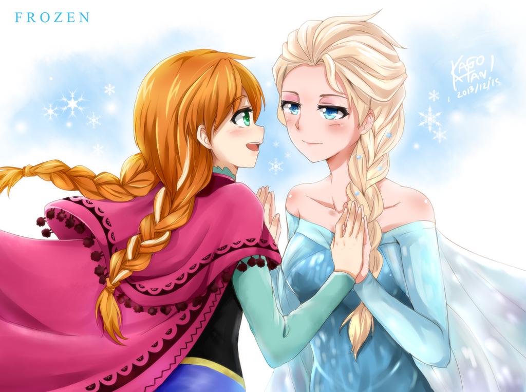 FROZEN - Elsa x Anna by kago-tan