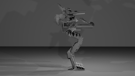 The Battleship Mech - Mantis portfolio