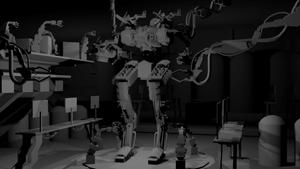 BATTLESHIP MECH REPAIR BAY - Final render