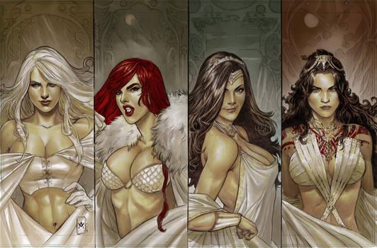 Emma Frost-Red Sonja-Wonder Woman-Dejah Thoris