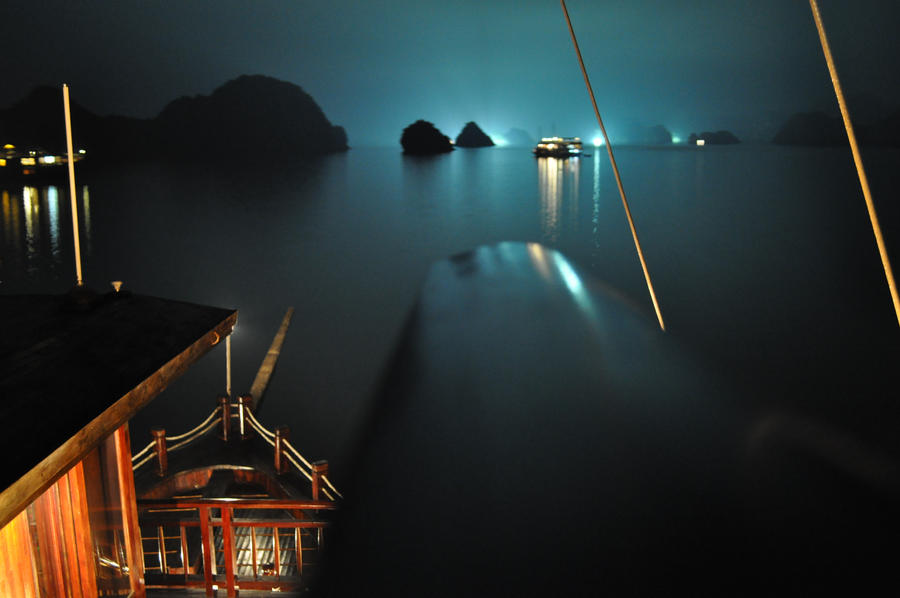 Halong Bay Long Exposure by 0utOfMyDepth