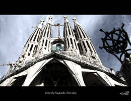 Cloudy Sagrada familia... by archonGX