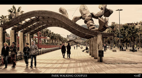 park walking couples by archonGX
