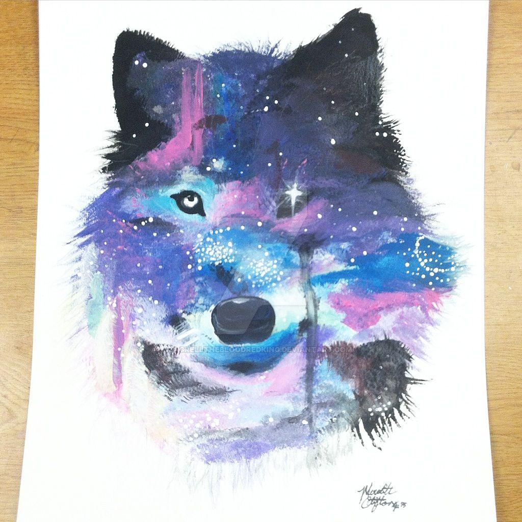 Galaxy Wolf By Grellthebloodredking On Deviantart