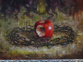 detail: Beneath apple