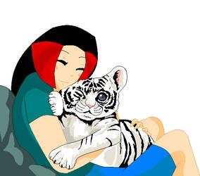 Lilian hugs Raja